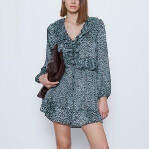 Zara Animal Print Dress Size M NWOT